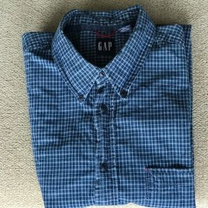 GAP XL short sleeve button down casual shirt